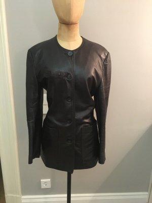 MIREILLE GRANIER Vintage Long Blazer aus Nappaleder Gr. 40 top
