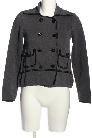 Miriam Ocariz Knitted Blazer light grey-black casual look