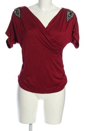 Mirja du Mont Camisa cruzada rojo elegante