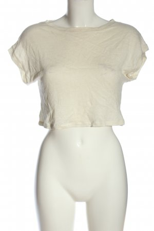 MIRYAM Cropped Shirt natural white cable stitch casual look