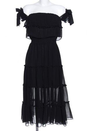 Misa Los Angeles Midikleid schwarz Elegant