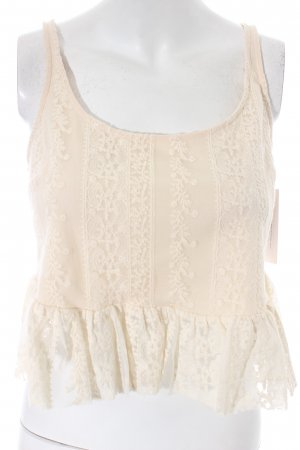 Misa Los Angeles Spitzentop creme Romantik-Look