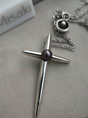 Misaki Silber Kreuzkette