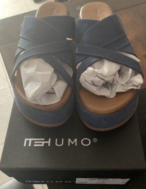 Mishumo Sandales à plateforme bleu