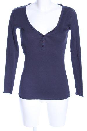 Mishumo Geribd shirt lila casual uitstraling