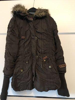 Mishumo Giacca invernale marrone scuro-marrone