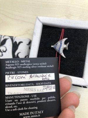 Misis Designer Armband Fisch Silber Zirkonia