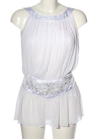 Miso Top z baskinką biały W stylu casual