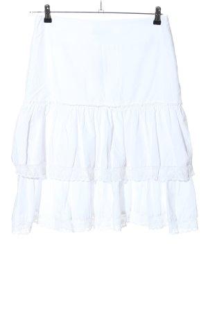MISRA Plaid Skirt white casual look