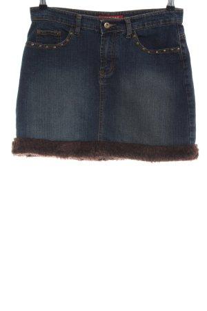 Miss 2&F Jeansrock blau Casual-Look