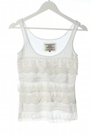Miss America Frill Top white casual look