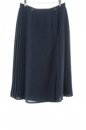 Miss Astor Pleated Skirt blue-white striped pattern casual look