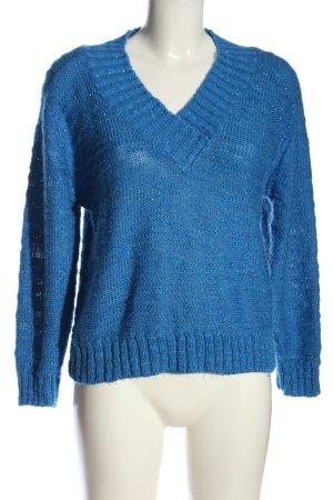 Miss Astor V-Ausschnitt-Pullover blau Casual-Look