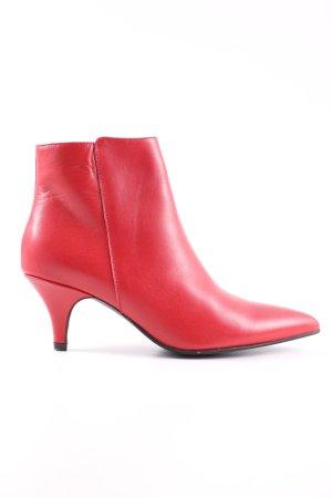 Miss Behave Reißverschluss-Stiefeletten rot Casual-Look