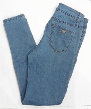Miss Bonbon Destroyed Ripped Jeans Blau Gr. S