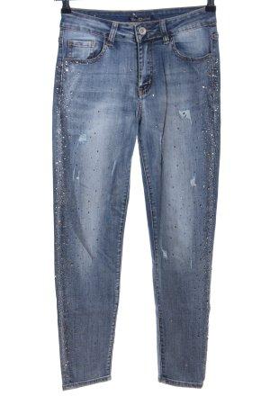 Miss Bonbon Skinny Jeans blau Casual-Look