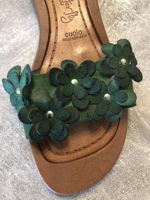 Vero Cuoio Outdoor Sandals brown-dark green