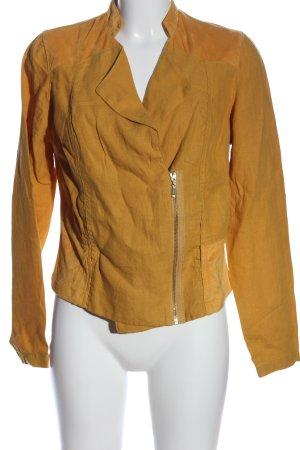 MISS BY CAPTAIN TORTUE Biker Jacket light orange casual look