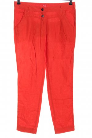 MISS BY CAPTAIN TORTUE Linen Pants red casual look