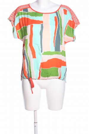 MISS BY CAPTAIN TORTUE Oversized Shirt Allover-Druck Casual-Look