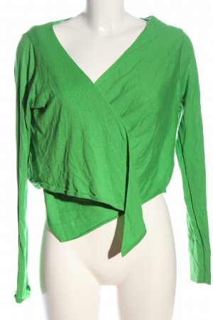 Miss Captain Wraparound Shirt green casual look
