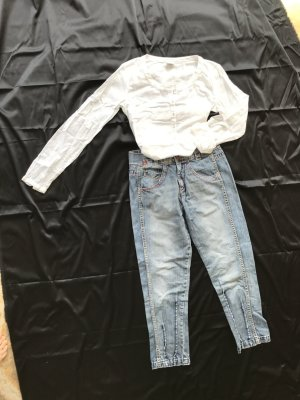 Miss Sixty 7/8 Length Jeans neon blue cotton