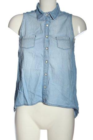 Miss Denim Gilet en jean bleu style décontracté