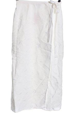 Miss Elegance Lniana spódnica biały Na całej powierzchni W stylu casual