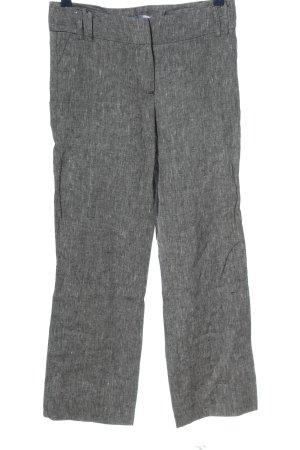 Miss Etam Pantalon en lin gris clair moucheté style décontracté