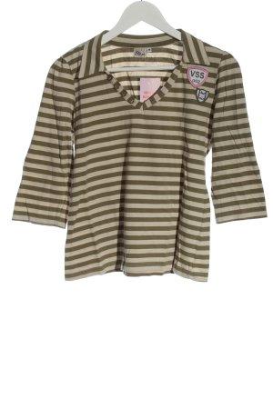 Miss Etam Stripe Shirt natural white-khaki striped pattern casual look