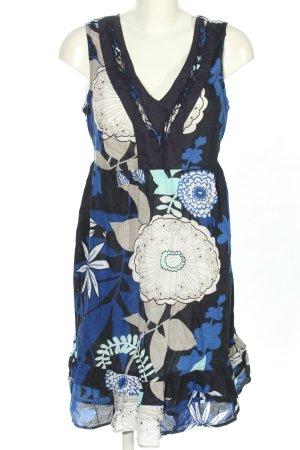 Miss Etam Sukienka z falbanami niebieski-biały Wzór w kwiaty W stylu casual