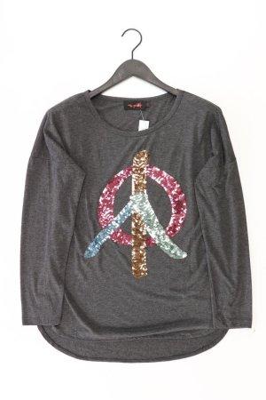 miss goodlife Longsleeve-Shirt Größe L Langarm mit Pailletten grau aus Polyester