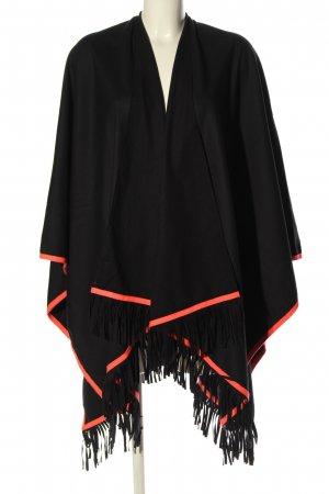 miss goodlife Poncho schwarz-pink Casual-Look