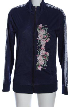 miss goodlife Sweatshirt blau Blumenmuster sportlicher Stil