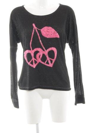 miss goodlife Sweatshirt schwarz Motivdruck Casual-Look