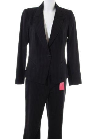 Miss H. Kostüm schwarz Streifenmuster Business-Look