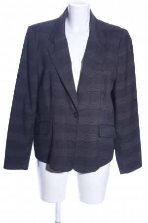 Miss H. Kurz-Blazer blau Karomuster Business-Look