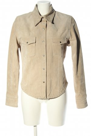 Miss H. Leather Shirt cream casual look