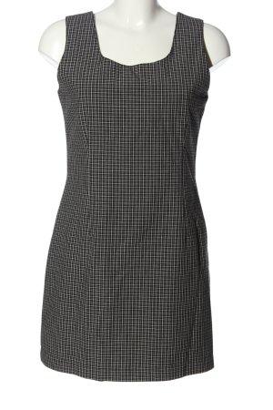 Miss H. Minikleid schwarz-weiß Karomuster Casual-Look