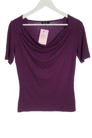 Miss H. Top col bénitier violet style décontracté