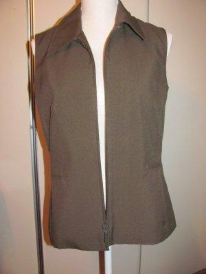 Miss H. Gewatteerd vest donkergroen Polyester