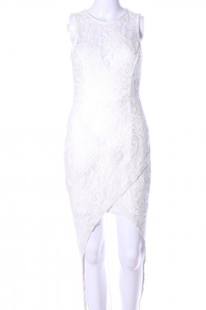 Miss Holly Vestido mullet blanco estampado floral elegante