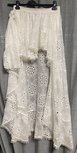 Miss June Spódnica z falbanami biały