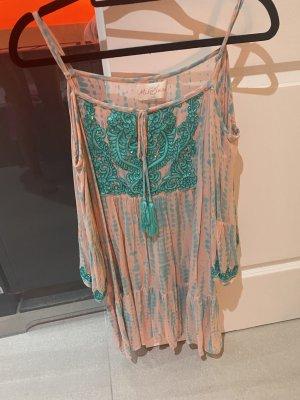 Miss June Tenue de plage rose-turquoise