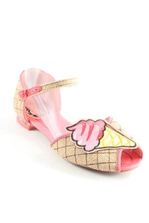 Miss l fire Riemchen Ballerinas mehrfarbig extravaganter Stil