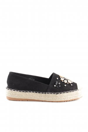 Espadrille Sandals black-natural white casual look
