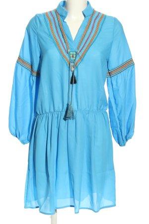 Miss Look Hippie Dress blue striped pattern casual look