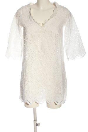 Miss Look Koronkowa bluzka biały W stylu casual