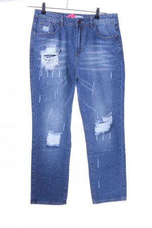 Miss Look Straight-Leg Jeans blau Casual-Look