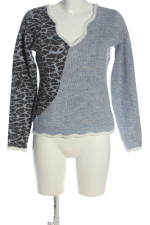 Miss Look V-Ausschnitt-Pullover